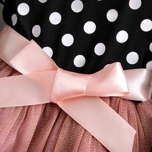 Other - 🎀New! Black White Polka Dot Pink Tutu Party Dress